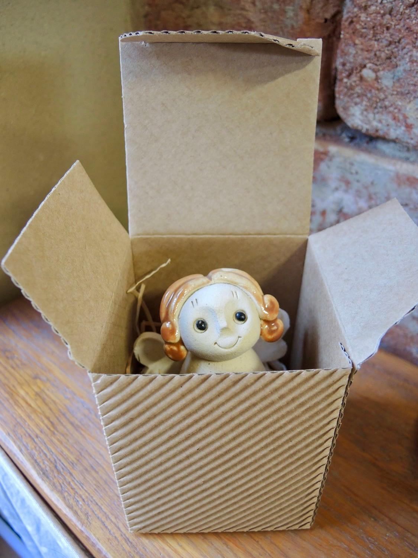 andílek zvoneček dárková krabička keramikaaandee