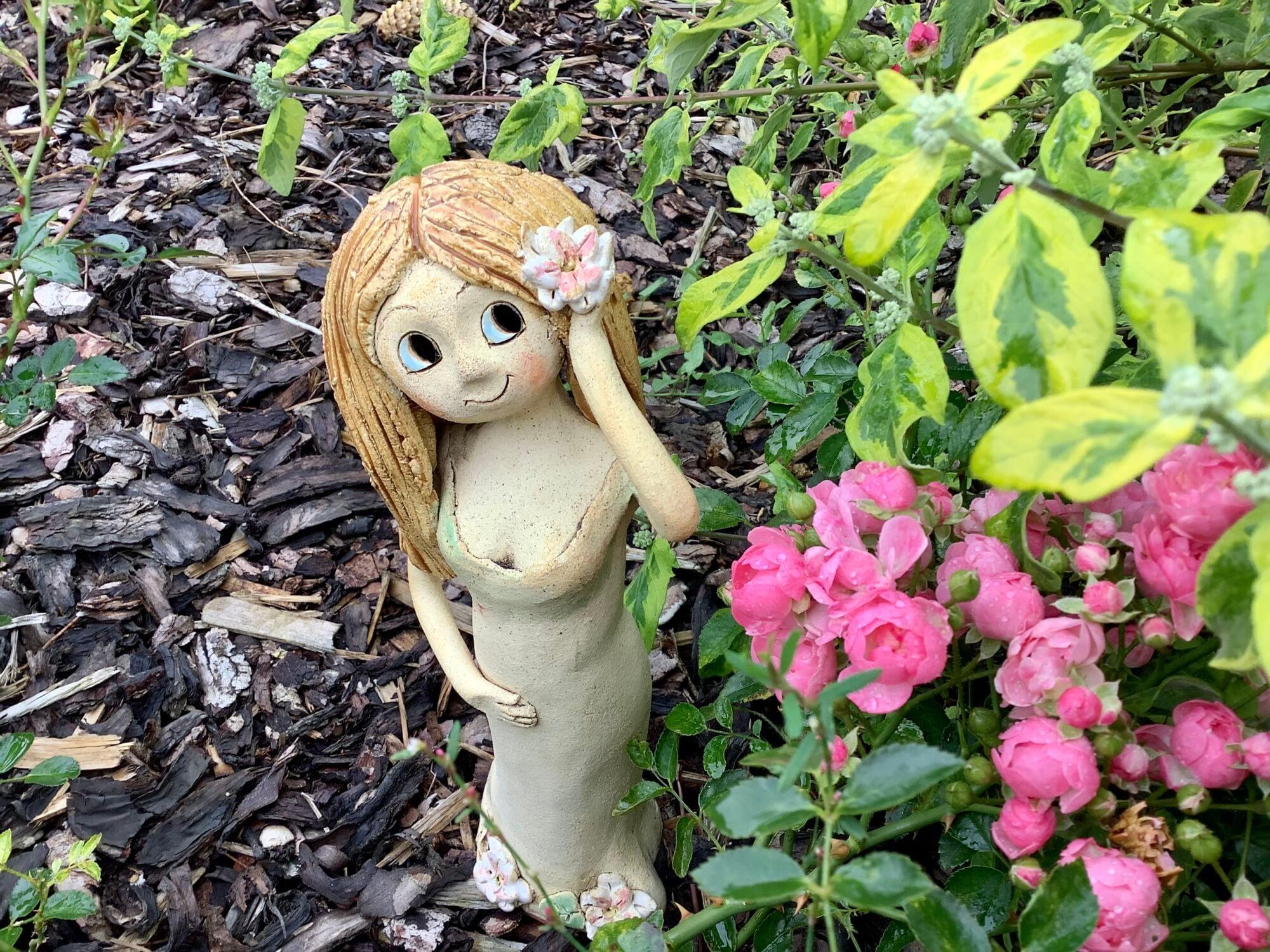 Lotos lekníny víla dívka dekorace