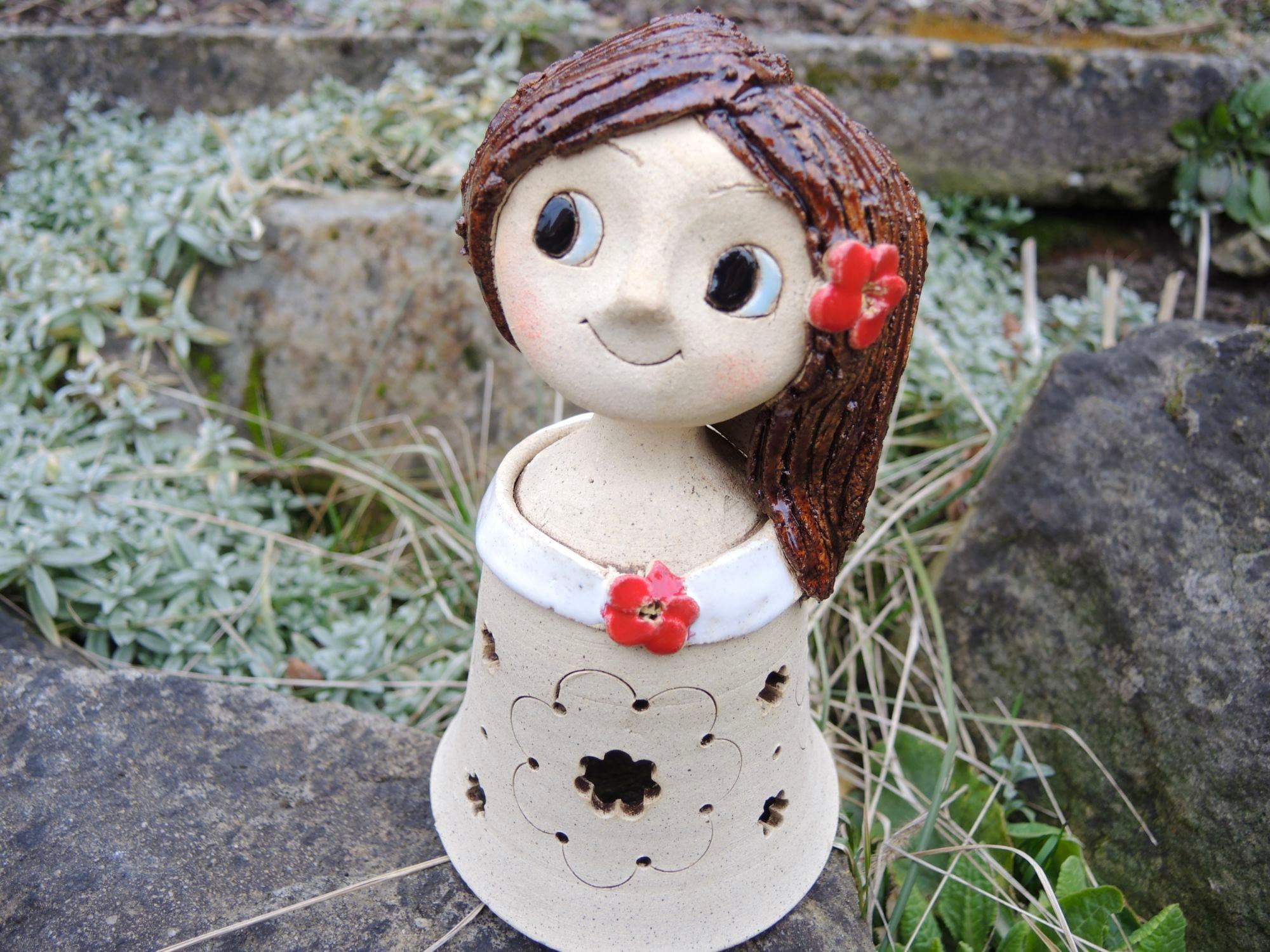 vila lampicka kvetina keramika andee