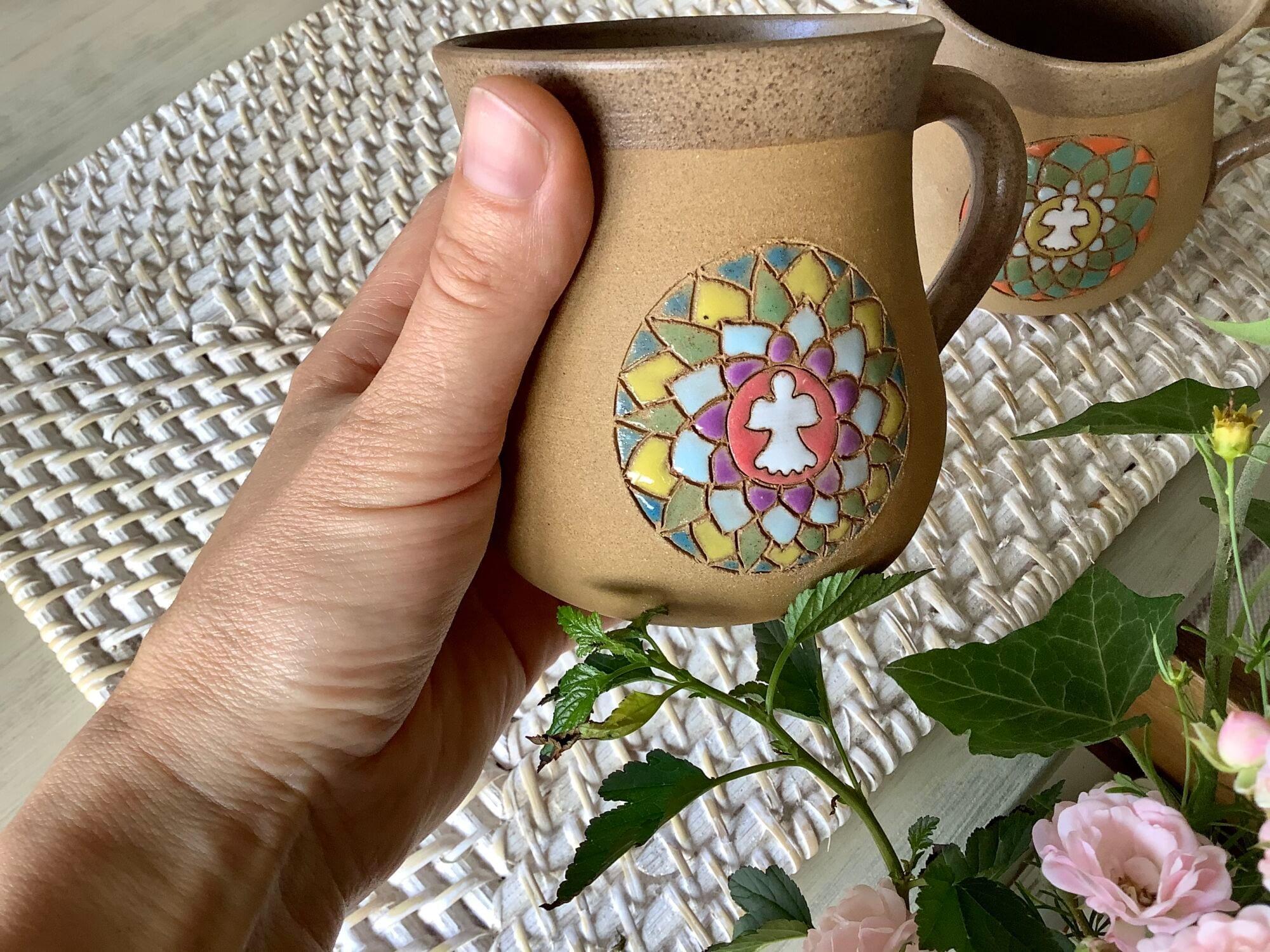 hrnek mandala načaj velký keramika keramikaandee anděl