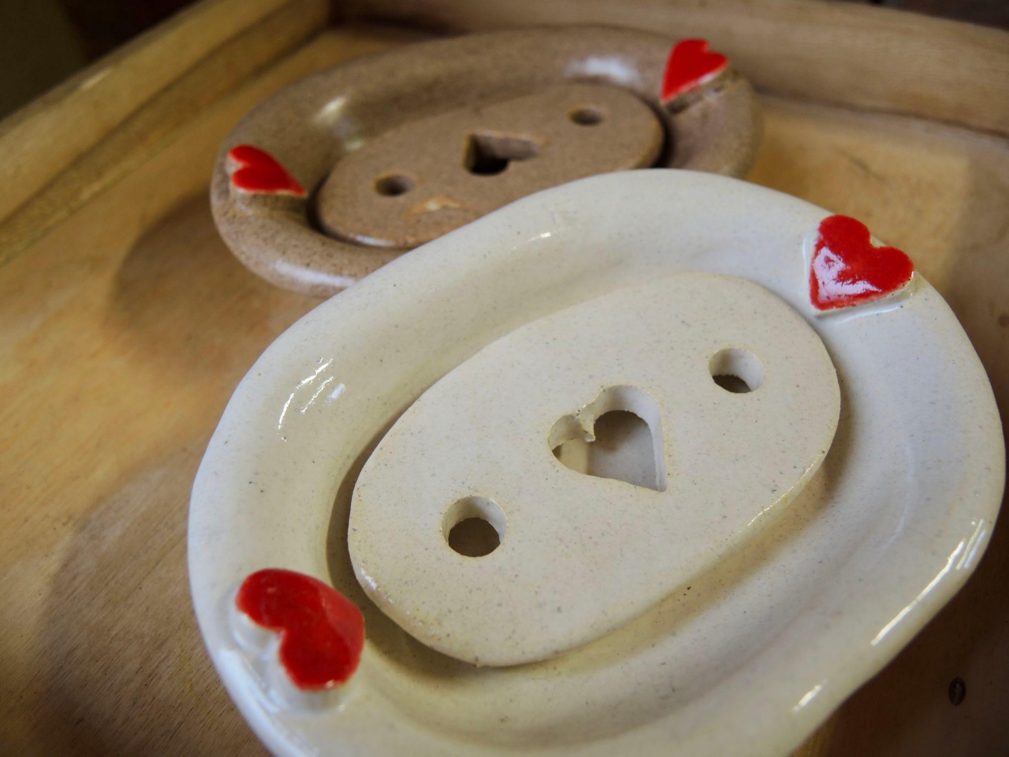 miska na mýdlo mýdlenka srdce keramikaandee