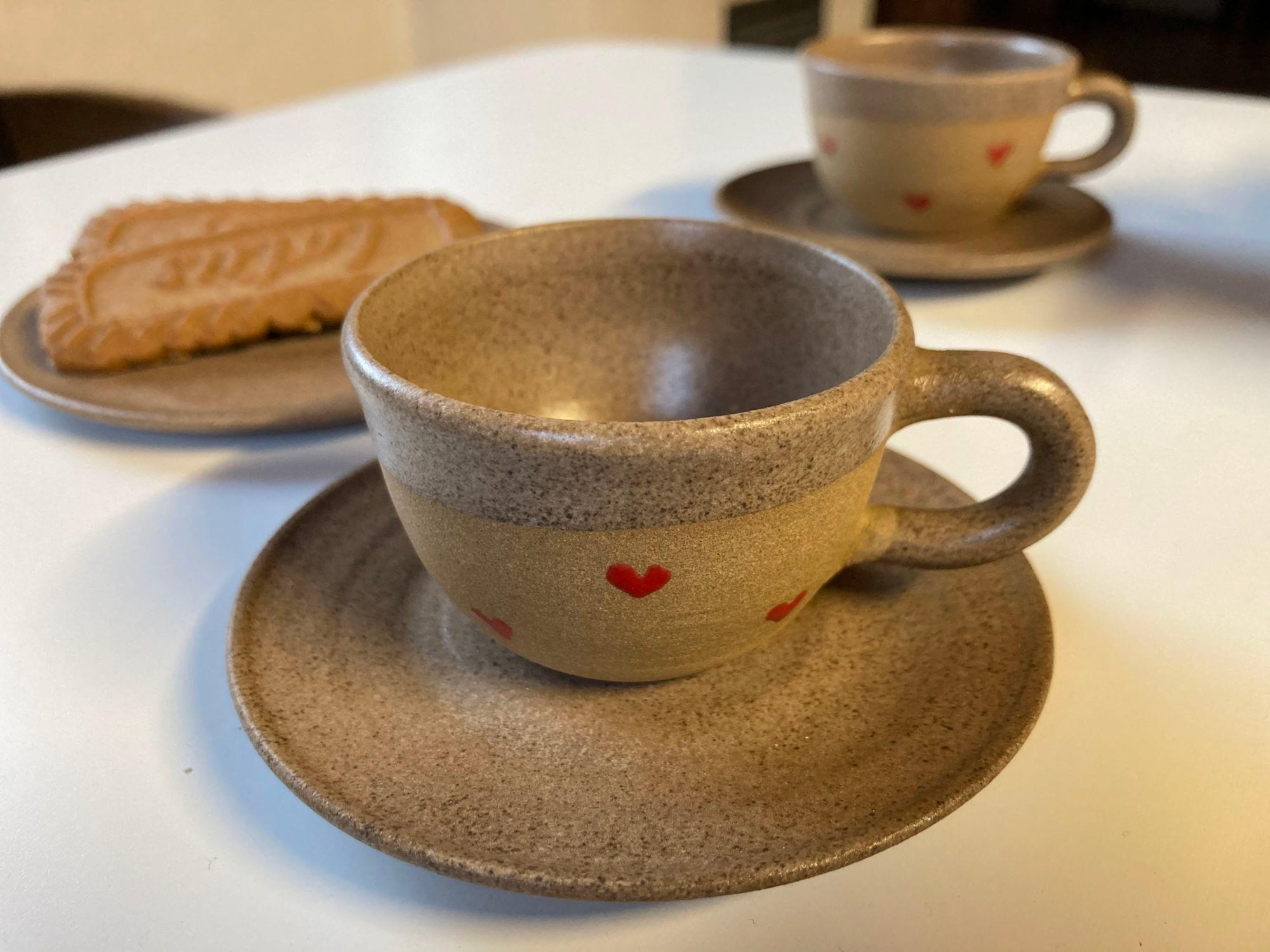 hrnek hrníček kafíčko srdíčka keramika keramikaandee