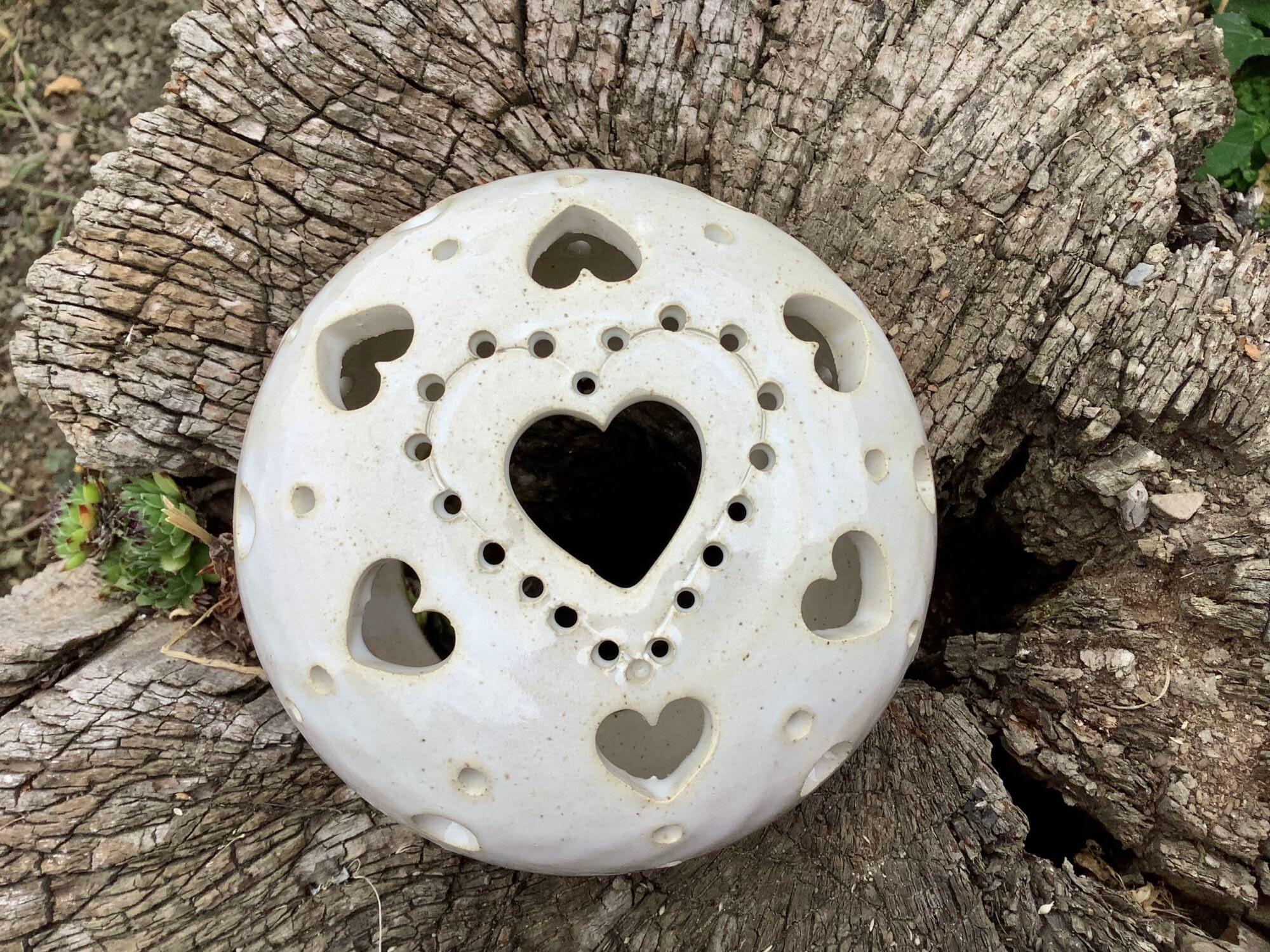 lampa lampička srdce mandala