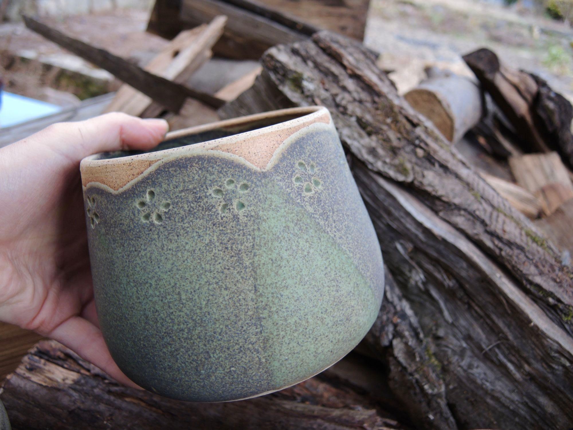 miska květináč bonsaj na kytky keramika zahrada keramikaandee