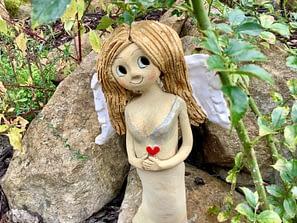 dekorace soška keramikaandee Keramická dekorace Srdce