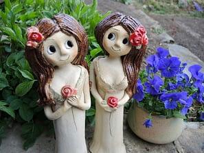 růže růženka květ socha figura víla dívka keramika keramikaandee dekorace