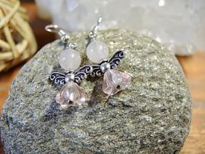 andělské náušnice anděl kameny šperky andee růženín