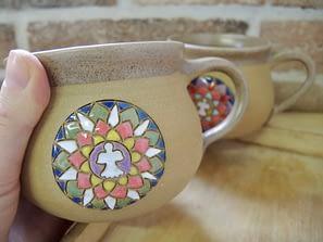 hrnek mandala na čaj velký keramika keramikaandee anděl