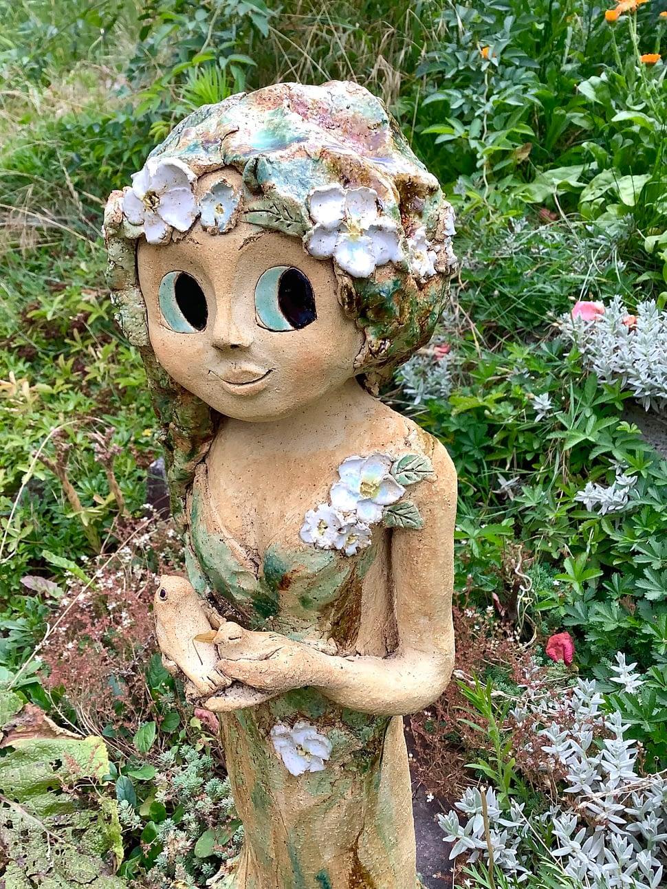 lesni víla květina strom zasněná Socha dekorace zahrada keramika keramikaandee