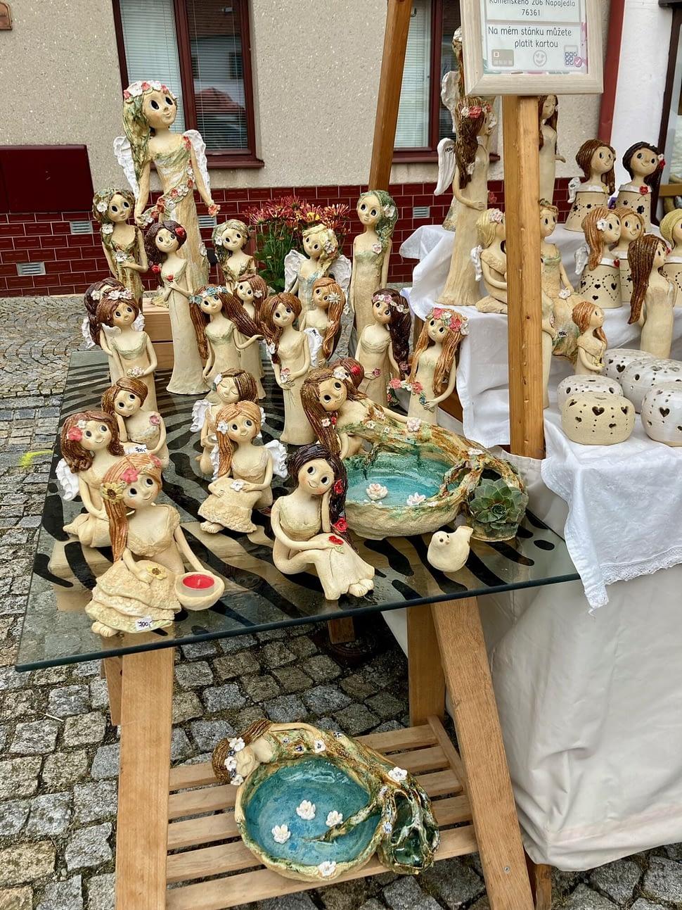 stanek keramika keramikaandee hrnky víly andělky dekorace sochy