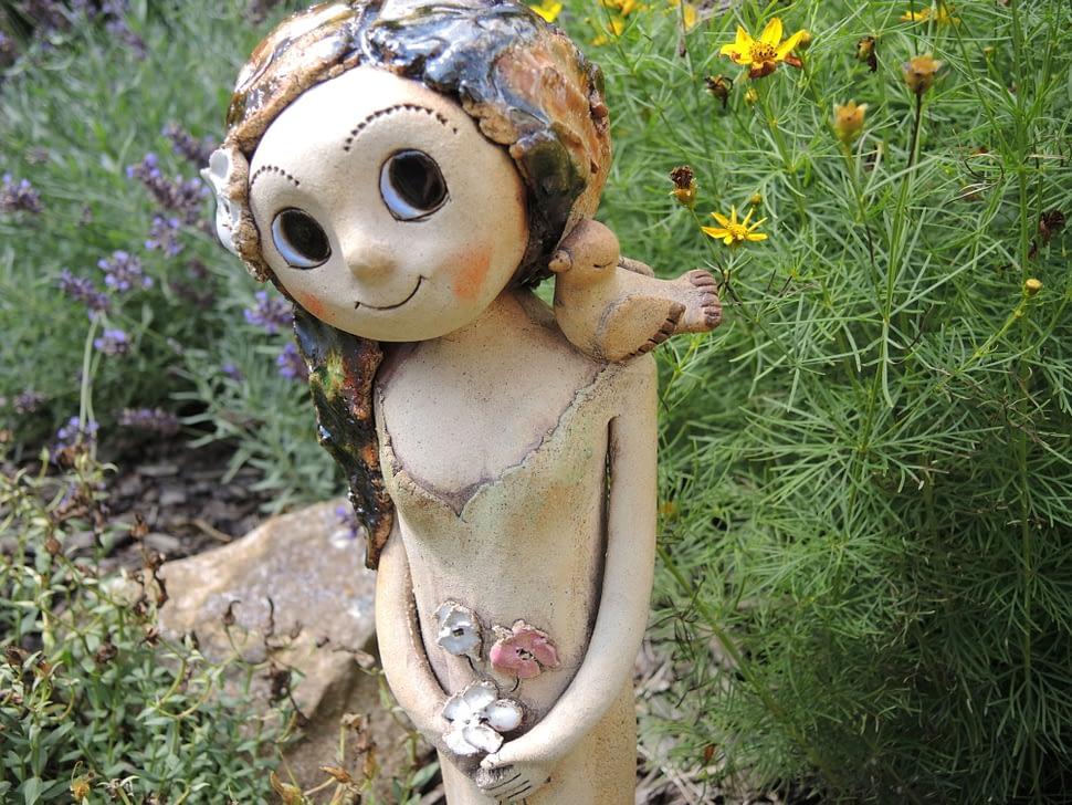 lesní víla ptáčci hnízdo jaro keramika andee