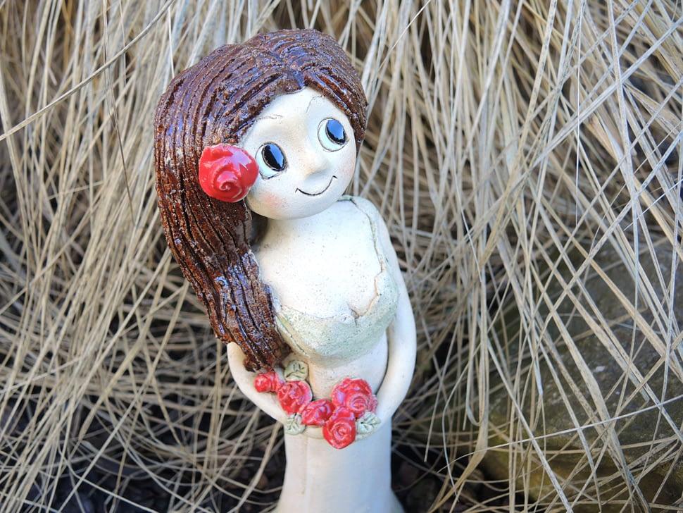 stojící Růženka soška dekorace víla keramika andee