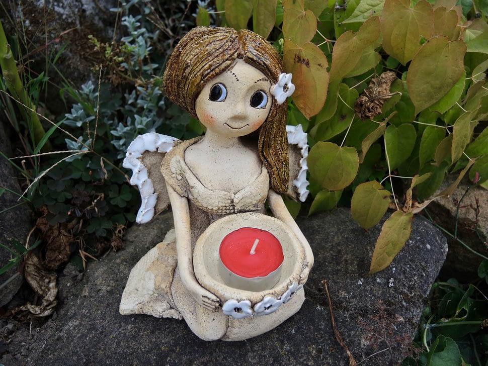 klecici andelka svicen srdce keramika andee