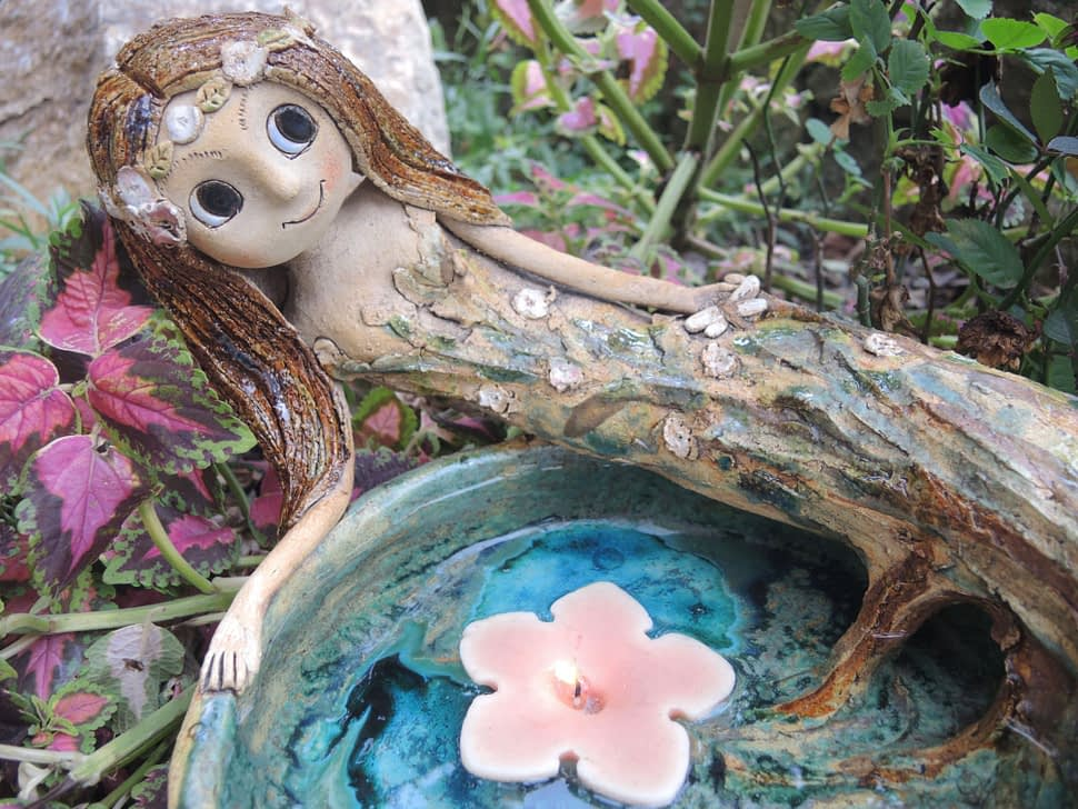 pítko víla lesní jezírko studánka keramika andee