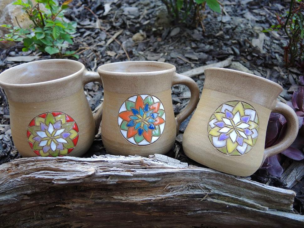 hrnek mandala čajík ornament keramika andee