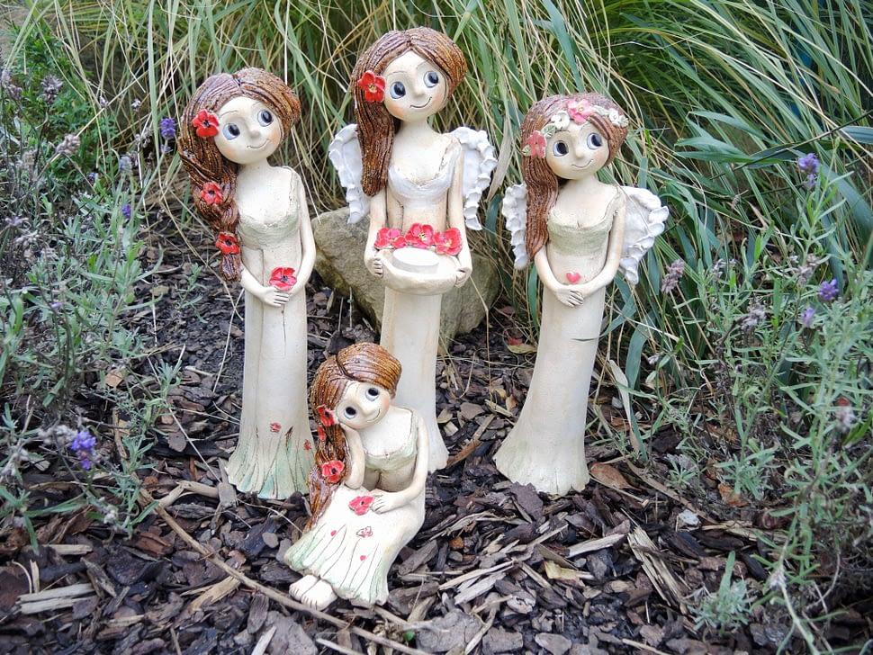 anděl andělka růže věneček křídla keramika figura keramikaandee srdce miska světlonoš víla vysoká keramikaandee