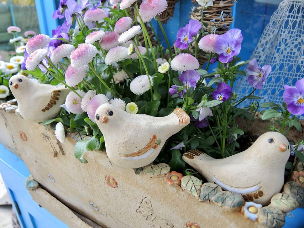 ptáček dekorace ptáčci keramika andee