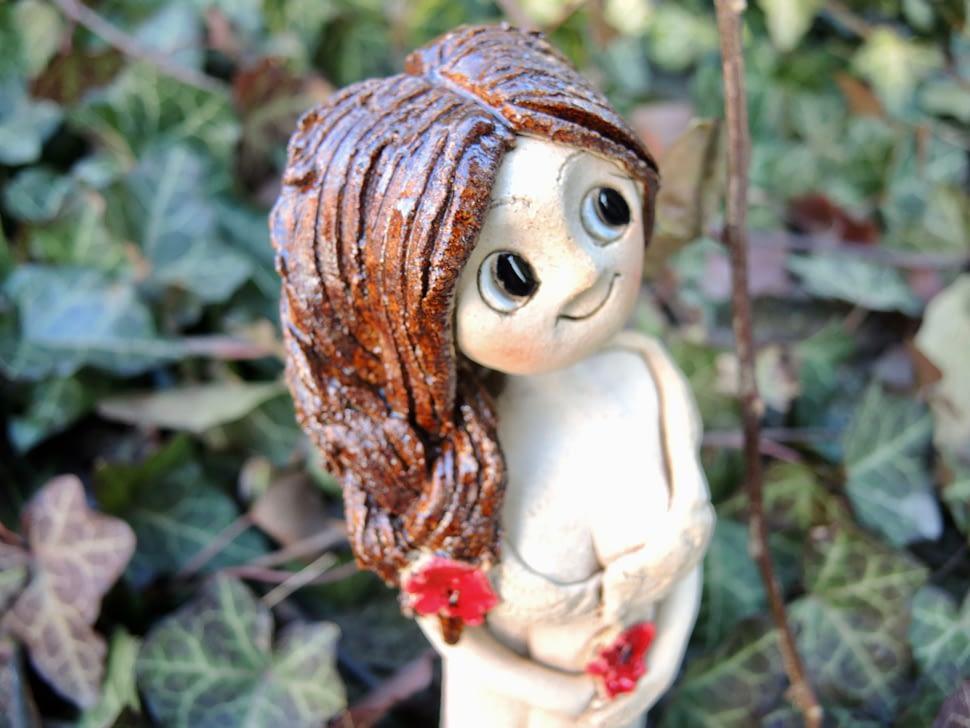 maková panenka víla vlčí mák keramika andee