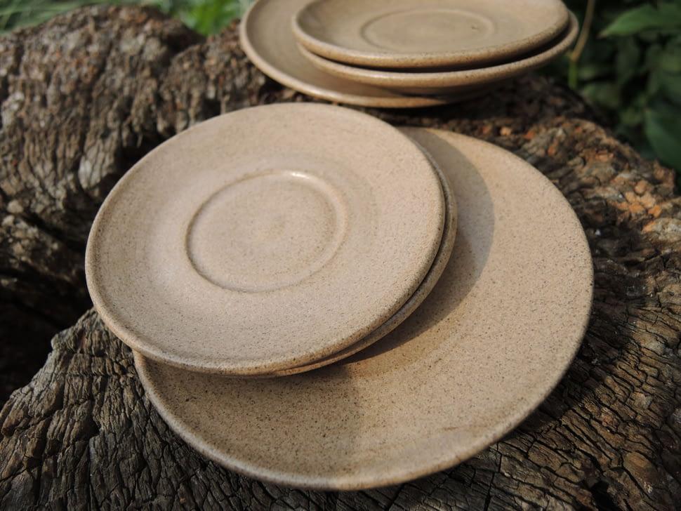 podšálek, talířek, keramika andee