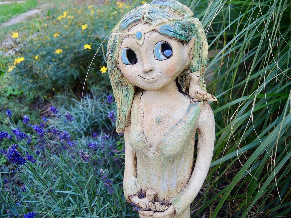 elfka elf amazon it les život ptáčci příroda Země socha dekorace zahrada keramikaandee