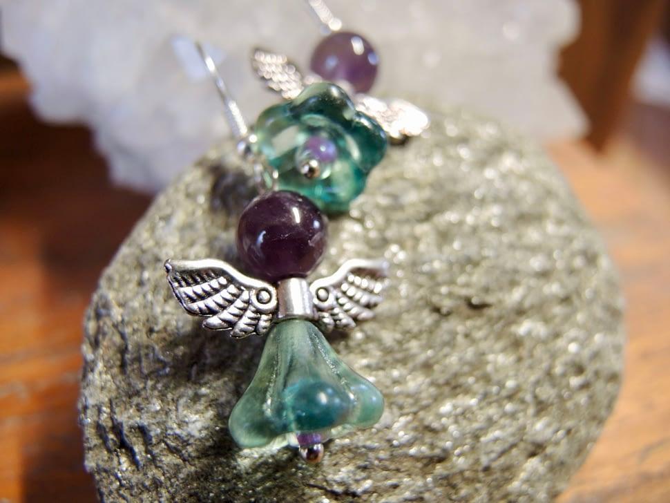 andělské náušnice anděl kameny šperky andee ametyst