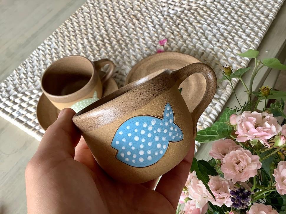 Kaficko ryba hrnek keramika