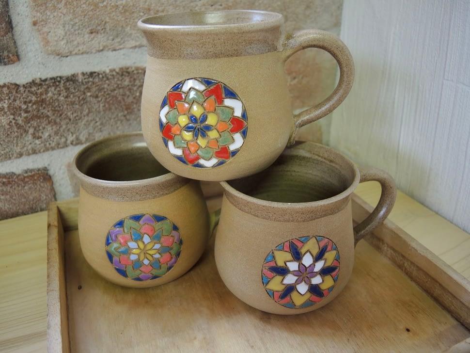 hrnek mandala načaj velký keramika keramikaandee květ