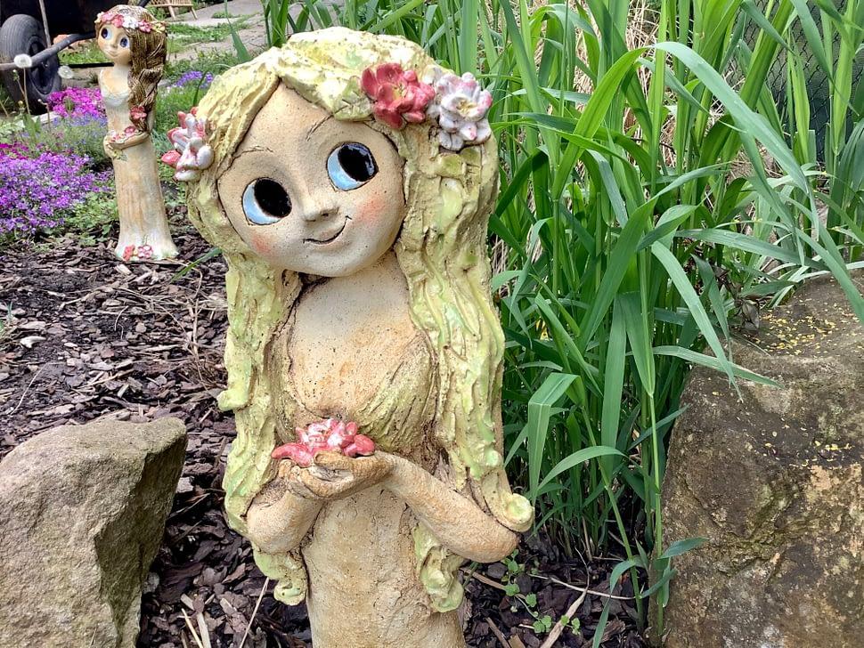 Vila slekniny dekorace socha zahrada socha keramika Andee