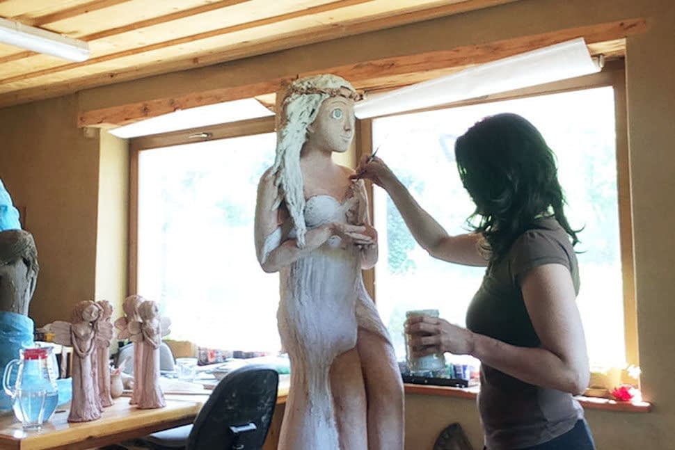 Andrea Karasová - výroba keramiky